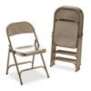 Virco® Metal Folding Chairs, Bronze, 4/Carton VIR16213K