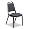 8926 Series Vinyl Upholstered Stack Chair, 18w x 22d x 34-1/2h, Black, 4/Carton