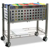 Smartworx File Cart, 1-Shelf, 28-1/4w x 13-3/4d x 27-3/8h, Matte Gray