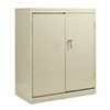 Assembled economy storage cabinet has single point locking system, satin chrome hardware.