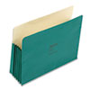 "ColorLife 5 1/4"" Expansion Pocket, Straight Tab, Letter, Green, 10/Box"