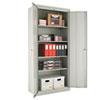 "Assembled 78"" High Storage Cabinet, w/Adjustable Shelves, 36w x 18d, Light Gray"