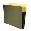 "Recycled 3 1/2"" Expansion File Pocket, Straight Cut, Letter, Green"