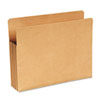 """Recycled 3 1/2"""" Expansion File Pocket, Straight Cut, Letter, Kraft"""
