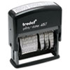 Trodat Economy 12-Message Stamp, Dater, Self-Inking, 2 x 3/8, Black