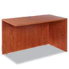 Alera Valencia Series Reversible Return/Bridge Shell, 47 1/4w x 23 5/8d, Cherry