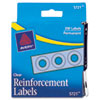 "Dispenser Pack Hole Reinforcements, 1/4"" Dia, Clear, 200/pack"