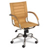 Flaunt Series Mid-Back Manager's Chair, Camel Microfiber/chrome