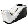 "Value Desktop Tape Dispenser, Attached 1"" Core, Black/silver"