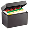 SteelMaster® Index Card File Holds 500 4 x 6 cards, 6 3/4 x 4 1/5 x 5 MMF263644BLA