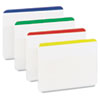 File Tabs, 2 x 1 1/2, Lined, Assorted Primary Colors, 24/Pack
