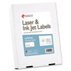 White Laser/Inkjet Shipping & Address Labels, 2 x 4, 2500/Box