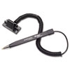 Wedgy Secure Ballpoint Stick Coil Pen with Scabbard Base, Black Ink, Fine