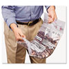 Double Handle Coin Tote, 55 Lb. Cap, 12 1/2 X 23 1/2, Clear, 100 Bags/box