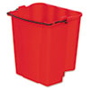 Dirty Water Bucket for Wavebrake Bucket/Wringer, 18qt, Red