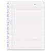 MiracleBind Ruled Paper Refill Sheets, 11 x 9-1/16, White, 50 Sheets/Pack