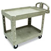 Heavy-Duty Utility Cart, 2-Shelf, 25-1/4w x 44d x 39h, Beige