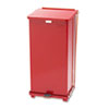 Defenders Biohazard Step Can, Square, Steel, 24gal, Red