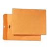 Park Ridge Kraft Clasp Envelope, 9 x 12, Brown Kraft, 100/Box