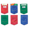 Mini Pockets, Blue, Red, Green, 4 x 6, 6/Pack