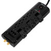 Surge Protector, 10 Outlets, 6 Ft Cord, 2880 Joules, Black