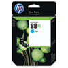 HP NO 88 VIVERA CYAN INK CART 17.1MIL