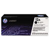 Q2612A (HP 12A) Toner Cartridge, 2,000 Page-Yield, Black
