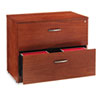 Verona Veneer Series Two-Drawer Lateral File, 35-1/2w x 22d x 29-1/2h, Cherry