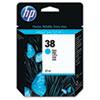 HP 38, (C9415A) Cyan Pigment Original Ink Cartridge