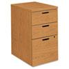 10500 Series Box/Box/File Mobile Pedestal, 15 3/4w x 22 3/4d x 28h, Harvest