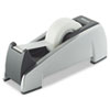 "Office Suites Desktop Tape Dispenser, 1"" Core, Plastic, Heavy Base, Black/Silver"