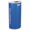 Configurable trash and recycling receptacles.