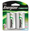 NiMH Rechargeable Batteries, D, 2 Batteries/Pack