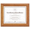 Document/certificate Frame, Wood, 8-1/2 X 11, Stepped Oak