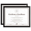 Value U-Channel Document Frames W/certificates, 8 1/2 X 11, Black, 2/pack