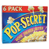 Microwave Popcorn, Movie Theater Butter, 3.5oz Bags, 6/Box