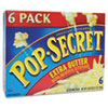 Microwave Popcorn, Extra Butter, 3.5oz Bags, 6/Box