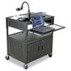 Height-adjustable Fdb Av Cart, Steel, 32-1/4w X 24-1/4d X 31 To 39h, Black