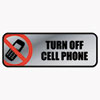 SIGN,TURN OFF CELL PHN,SV