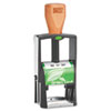 Green Line Self-Inking Heavy Duty Stamp, 1 1/4 x 5/8, Black