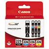 4530b008aa (pgi-225, Cli-226) Ink, Cyan/magenta/pigment Black/yellow, 4/pk