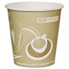 Hot cups made from recycled fiber have leak-proof lining and smooth-rolled rim.