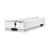 Liberty Check/voucher Storage Box, 10 3/4 X 23 1/4 X 4-5/8, White/blue, 12/ct.