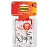 General Purpose Hooks, Small, Holds 1lb, White, 9 Hooks & 12 Strips/pack