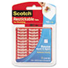 Restickable Mounting Tabs, 1 X 1, 18/pack