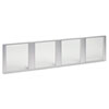 Glass Door Set With Silver Frame For 72 Wide Hutch, Clear, 4 Doors/set