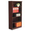 Alera Valencia Series Bookcase, Five-Shelf, 31 3/4w x 14d x 65h, Mahogany