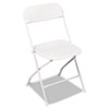 Bridgeport™ Stack Rental Folding Chair, Resin, White, 4/Carton CSC60672WHT4