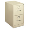 H410 Series Two-Drawer Locking Vertical File, 15w x 22d x 26-1/8h, Putty