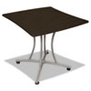 Trento Line Palermo Table, 33w x 31-1/2d x 29-1/2h, Mocha/Gray